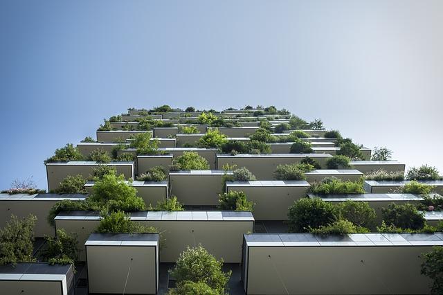 zelené balkóny
