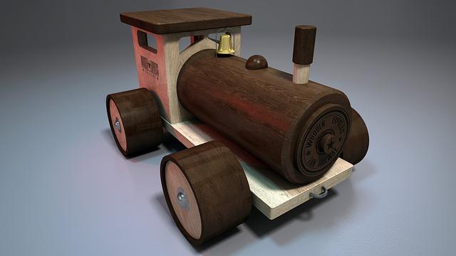 dřevěný vláček, hračka